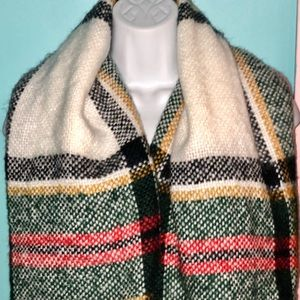 Maurice's Plaid Knit Blanket Scarf